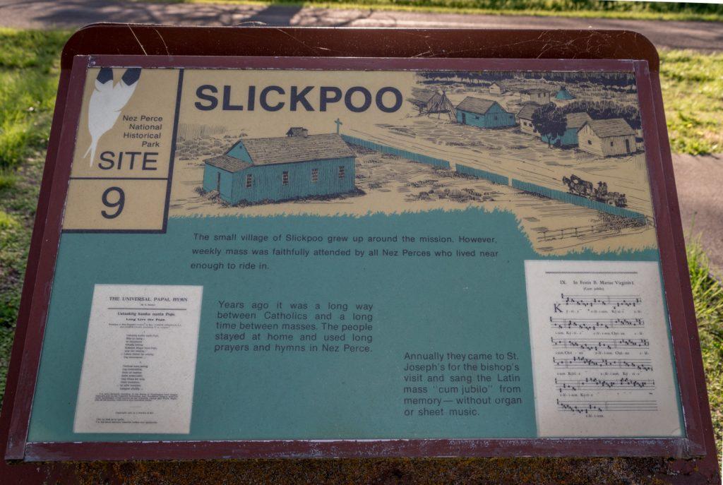 historic sign of Slickpoo