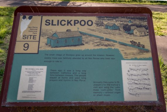 historic sign of Slickpoo