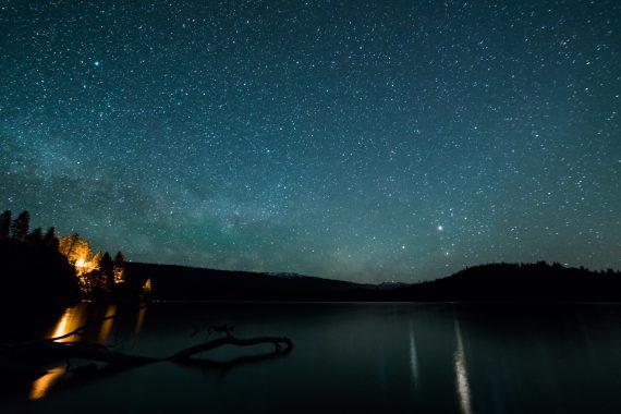 Stars over Payette Lake, McCall Idaho