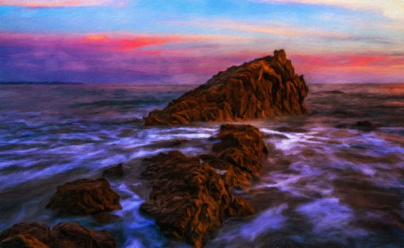 Sunset At Leo Carrillo State Park – Malibu California
