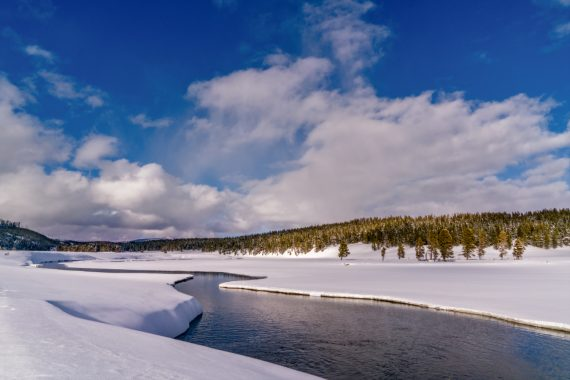A river in the Hayden Valley of Yellowstone.