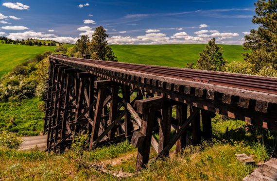 A railroad trestle