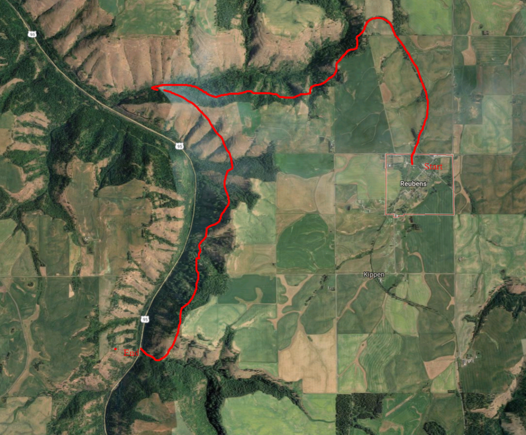The Camas Prairie Railroad Part 3 - Reubens to Highway 95